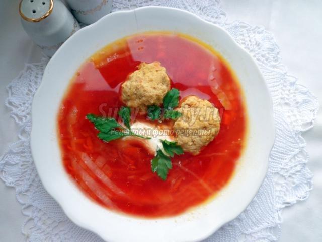 красный борщ с мясом рецепт с фото