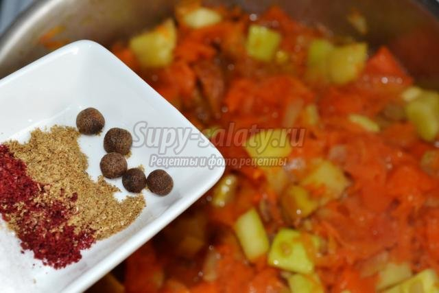 овощное рагу с каштанами и тыквой