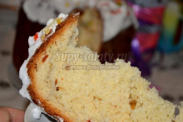 вкусный пасхальный кулич в хлебопечке