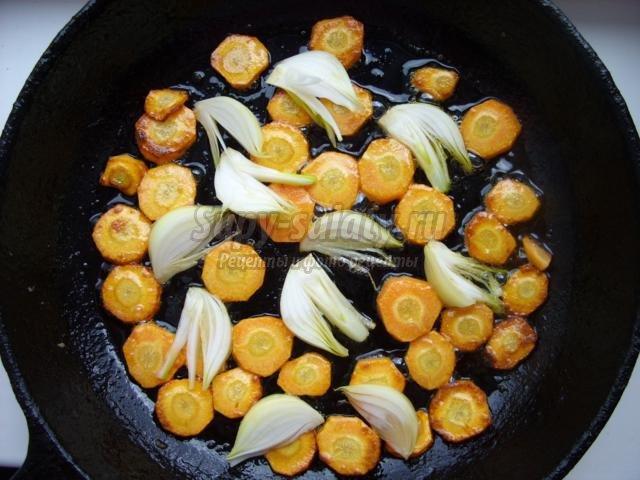 суп-пюре из тыквы с креветками