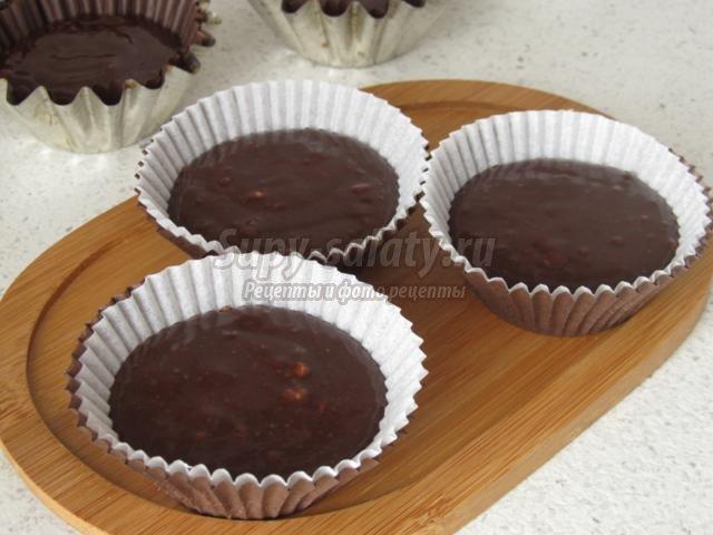 маффины с черным шоколадом