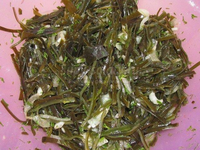 рис с морской капустой рецепт