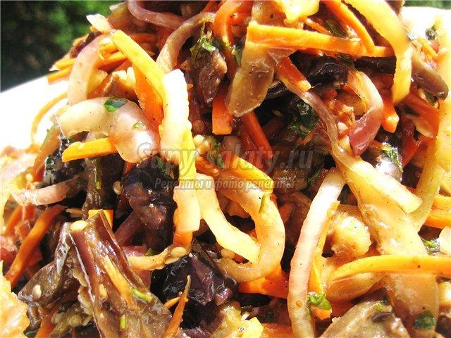 баклажаны по -корейски. Лучшие рецепты с фото