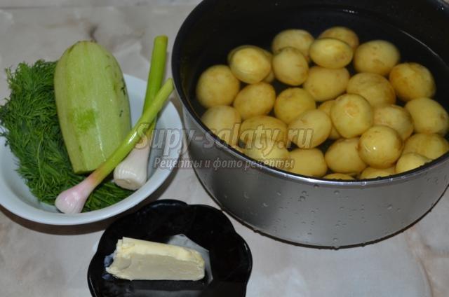 молодой картофель с пикантной заправкой