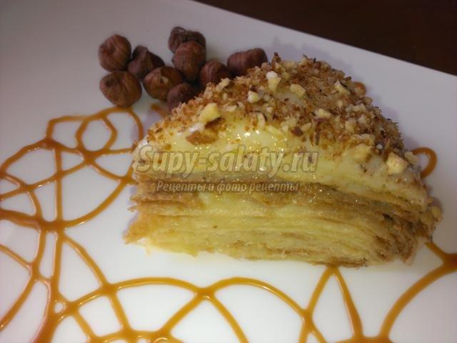 наполеон торт рецепт с заварным сметанным