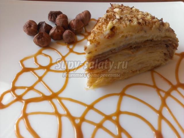 торт Наполеон со сметанным кремом