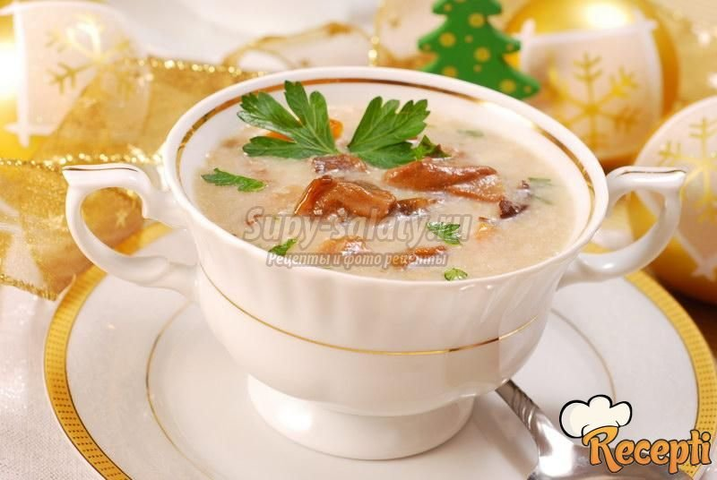 суп с грибами фото