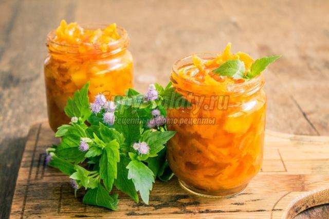 нежная морковная закуска с помидорами и луком