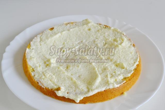 бисквитный торт со сметанным кремом в мультиварке