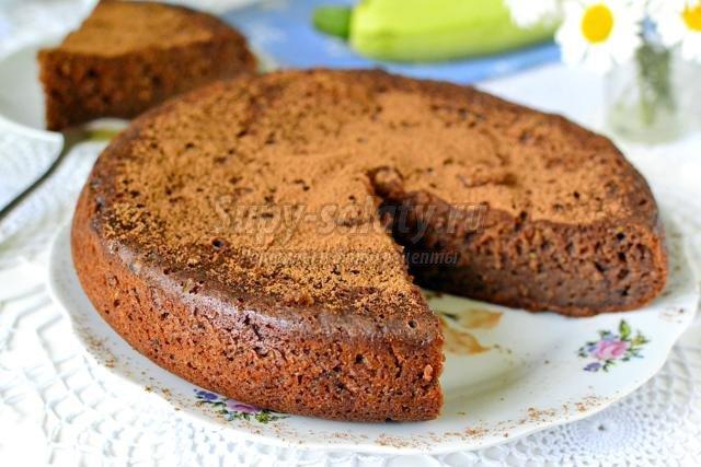 шоколадный кабачковый пирог в мультиварке