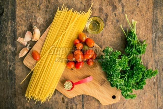 спагетти вегетарианские