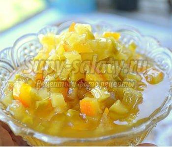 Варенье из кабачков с цитрусовой ноткой. Рецепт с пошаговыми фото