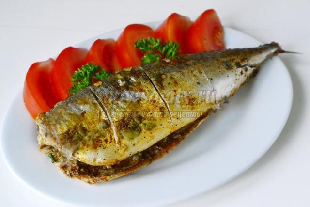 запечённая рыба в мультиварке