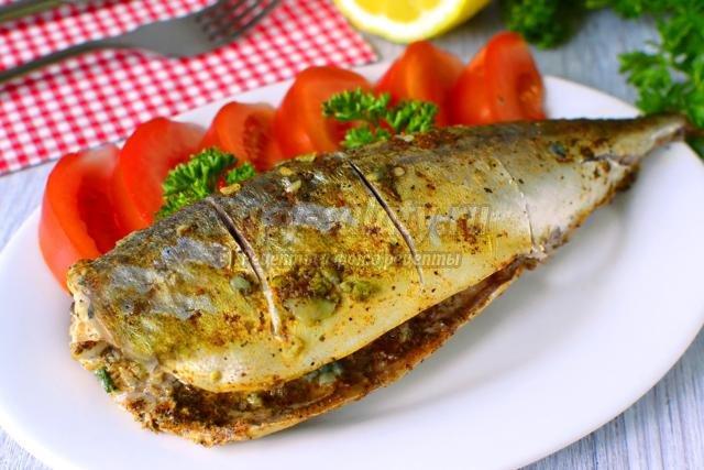 Запеченная рыба в мультиварке пошаговая фото