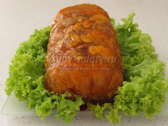 Мраморная курица рецепт с фото