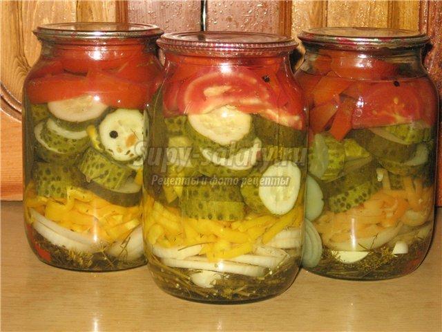 Диетические салаты из овощей на зиму