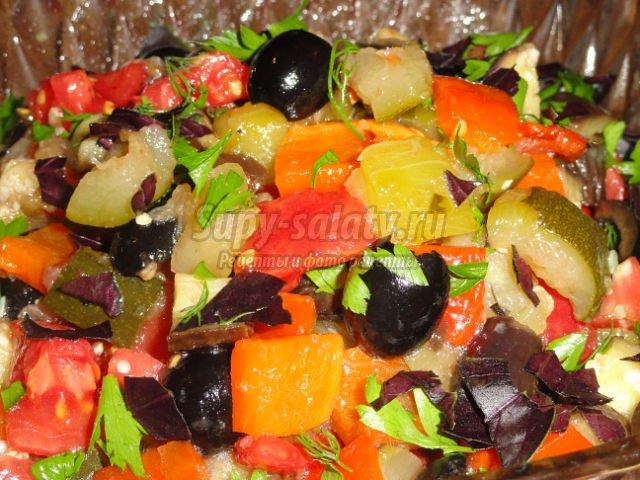 рецепт салата на зиму из овощей