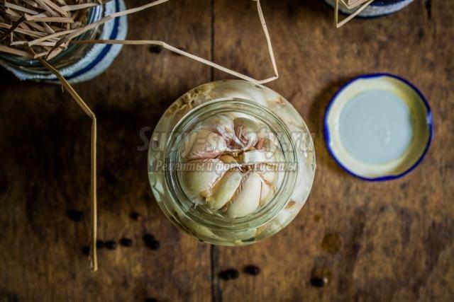 маринованный чеснок на зиму