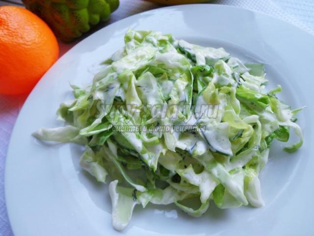 салат с капустой и огурцом