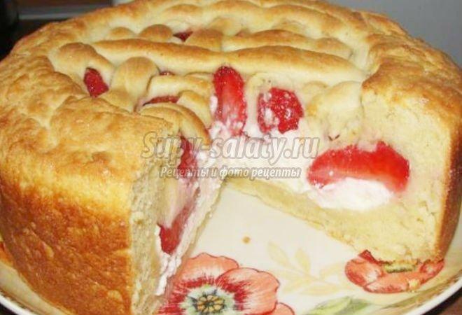 пирог с клубникой. Лучшие рецепты с фото