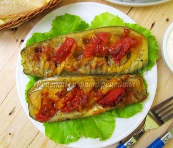 рецепт баклажаны с беконом в духовке рецепт с фото