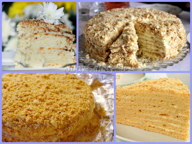 Торт сметанный из готовых бисквитных коржей рецепт 22