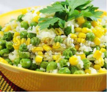 гавайская смесь из риса, горошка и кукурузы