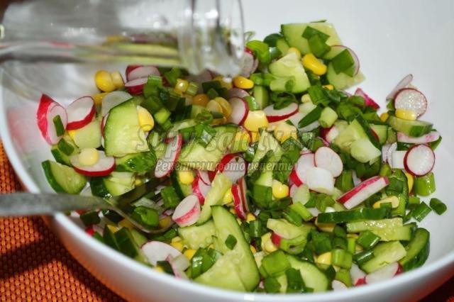 весенний салат рецепт из редиса