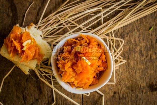 острая морковная закуска
