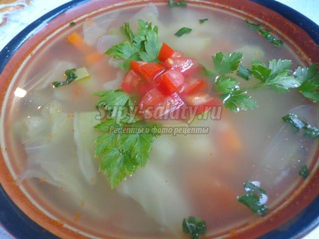 Овощной суп рецепт с фото пошагово
