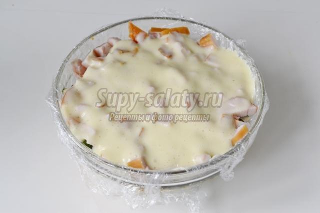 Фото рецепт пошаговый грибная поляна