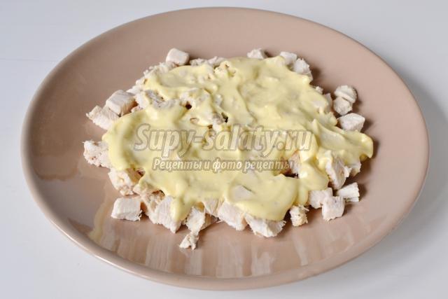 Шампиньоны с курицей и сыром пошаговый рецепт с