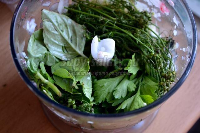 аджика сырая с базиликом