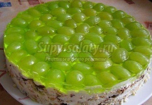 виноградный торт желейный