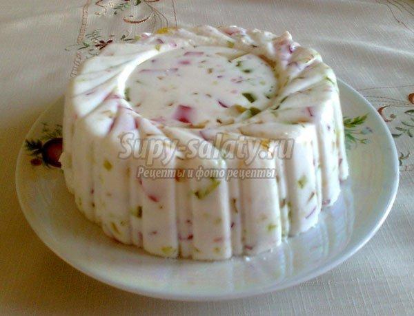 желейный торт мозайка