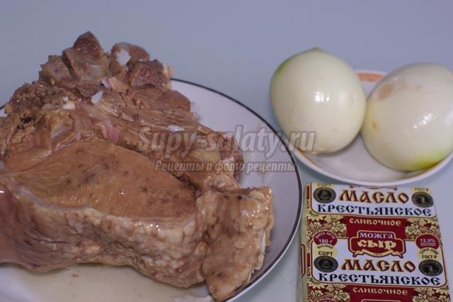 блины на молоке с мясом