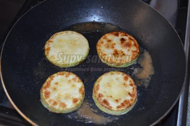 закуска из баклажанов, кабачков и помидор
