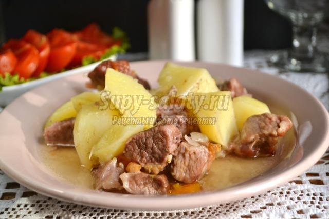 картошка с мясом в рукаве