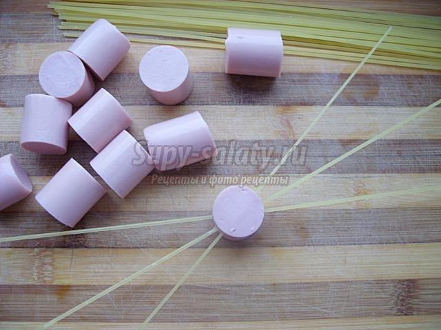 макароны-паучки для детей