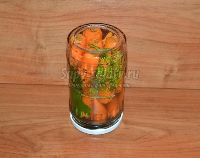 морковь в кисло-сладком маринаде на зиму