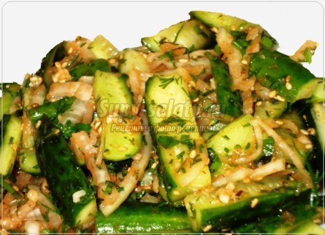 Огурцы по корейски самый вкусный рецепт фото