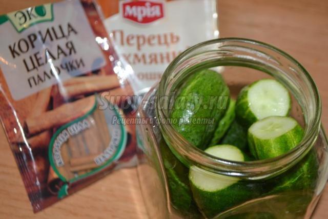 Рецепт огурцы с корицей
