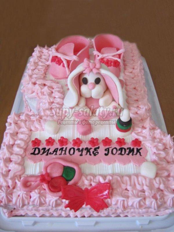 рецепт тортик для девочки из мастики