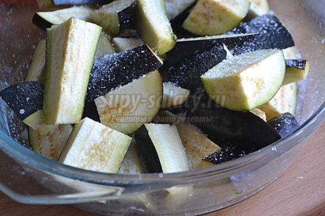 баклажаны в карамели из соевого соуса