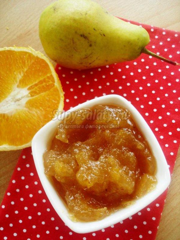 грушевый конфитюр с апельсиновой цедрой