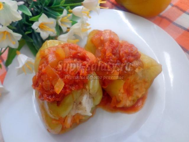 Пошаговый рецепт с фото фаршированного перца