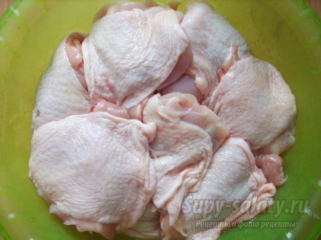 Куриные бедра на мангале. Рецепт с пошаговыми фото
