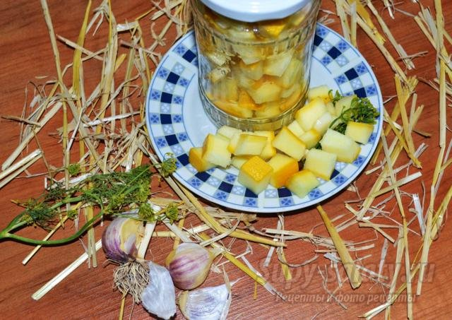 сладкие маринованные кабачки с чесноком под грузди