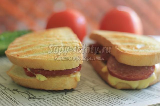 Бутерброды с колбасой рецепты