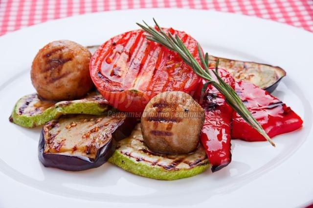 Овощи барбекю рецепты камины декоративные электрические в воронеже